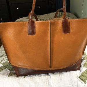 Frye Lucy leather tote bag